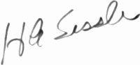 The signature of Major Howard A Sessler (deceased)