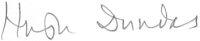 The signature of Group Captain Sir Hugh Dundas CBE DSO DFC DI (deceased)