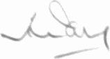 The signature of Sqn Ldr Hugh Parry