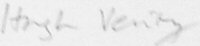 The signature of Group Captain Hugh Verity DSO* DFC (deceased)