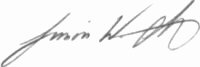 The signature of Squadron Leader Iain Hutchinson (deceased)