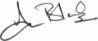 The signature of Flt Lt Ian Black