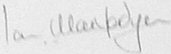 Photograph of the signature of Air Marshal Ian Macfadyen