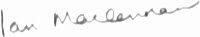 The signature of Flight Lieutenant Ian MacLennan DFM
