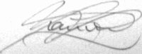 The signature of Squadron Leader Ian Smith
