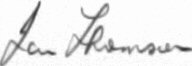 The signature of Group Captain Ian Thomson