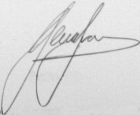 The signature of Ieuan Evans