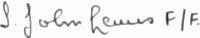 The signature of Mr. I J Lewis
