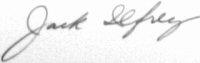 The signature of Colonel Jack M Ilfrey (deceased)