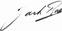 The signature of Flight Lieutenant Jack Rae DFC* (deceased)