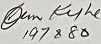 The signature of Flight Lieutenant James Kyle DFM