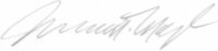 The signature of Captain James A Myl