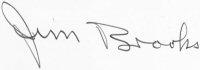 The signature of Captain Jim Brooks