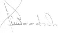 The signature of Colonel Jim Goodson (deceased)