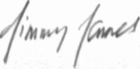 The signature of Squadron Leader B A Jimmy James MC (deceased)