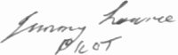 The signature of W O Donald J Jimmy Lowrie