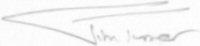 The signature of Flight Lieutenant Jim Turner