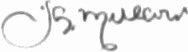 The signature of Squadron Leader Jocelyn G P Millard (deceased)