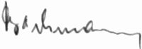 Photograph of the signature of Feldwebel Johannes Bachmann