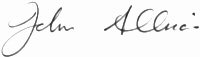 The signature of Air Chief Marshal Sir John Allison