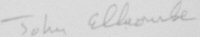 The signature of Air Commodore John Ellacombe CB DFC* (deceased)