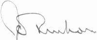 The signature of Wing Commander John Freeborn DFC* (deceased)