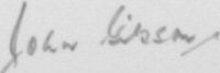 The signature of Squadron Leader John Gibson (deceased)