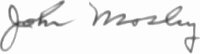 The signature of Technical Sergeant John Moseley