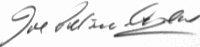 The signature of Flight Lieutenant John Petrie-Andrews DFC DFM