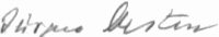 The signature of Jurgen Oesten (deceased)