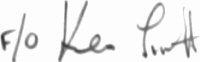 The signature of Ken Scott