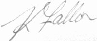 The signature of Kieren Fallon