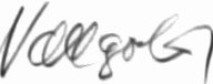Photograph of the signature of Fahnrich Klaus Vollgold