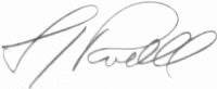 The signature of Lieutenant Colonel Lawrence Powell