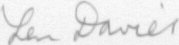 The signature of Flt Lt Leonard Davies