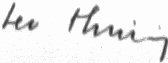 The signature of Leo Thuring