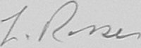 The signature of Flying Officer Leslie Rosser