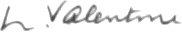 The signature of Flying Officer Leslie Valentine CdeG (deceased)