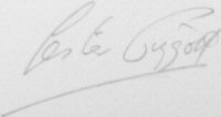 The signature of Lester Piggott