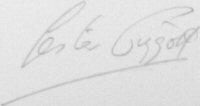 The signature of Lester Piggott