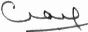 The signature of Marshall of the Royal Air Force, The Lord Craig of Radley, GCB OBE