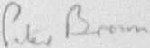 The signature of Squadron Leader Maurice P Brown (deceased)