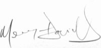 The signature of Mervyn Davies (deceased)