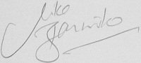 The signature of Captain Michael Bannister