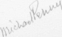 The signature of Flt. Lt. Michael Penny