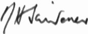 The signature of Squadron Leader Norman Scrivener DSO DFC�(deceased)