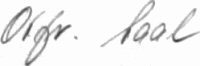 The signature of Unteroffizier Otfried Sahl