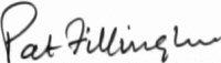 The signature of Pat Fillingham FRAeS (deceased)