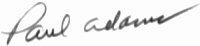 The signature of Paul Adams USMC