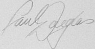 The signature of Captain Paul Douglas